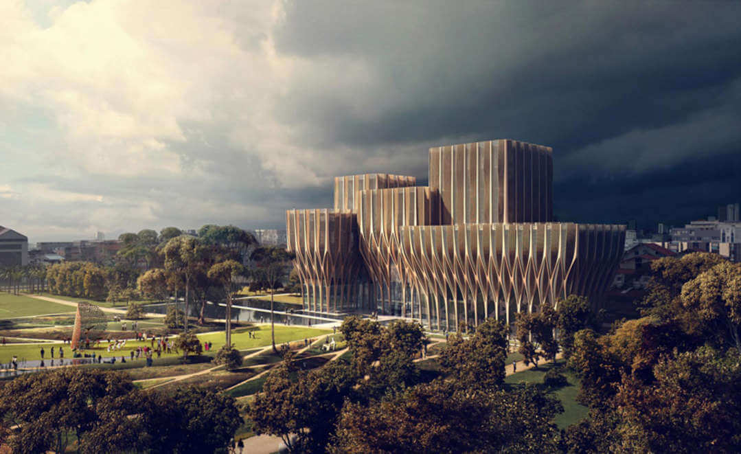 Sleuk Rith Institute by Zaha Hadid Architects