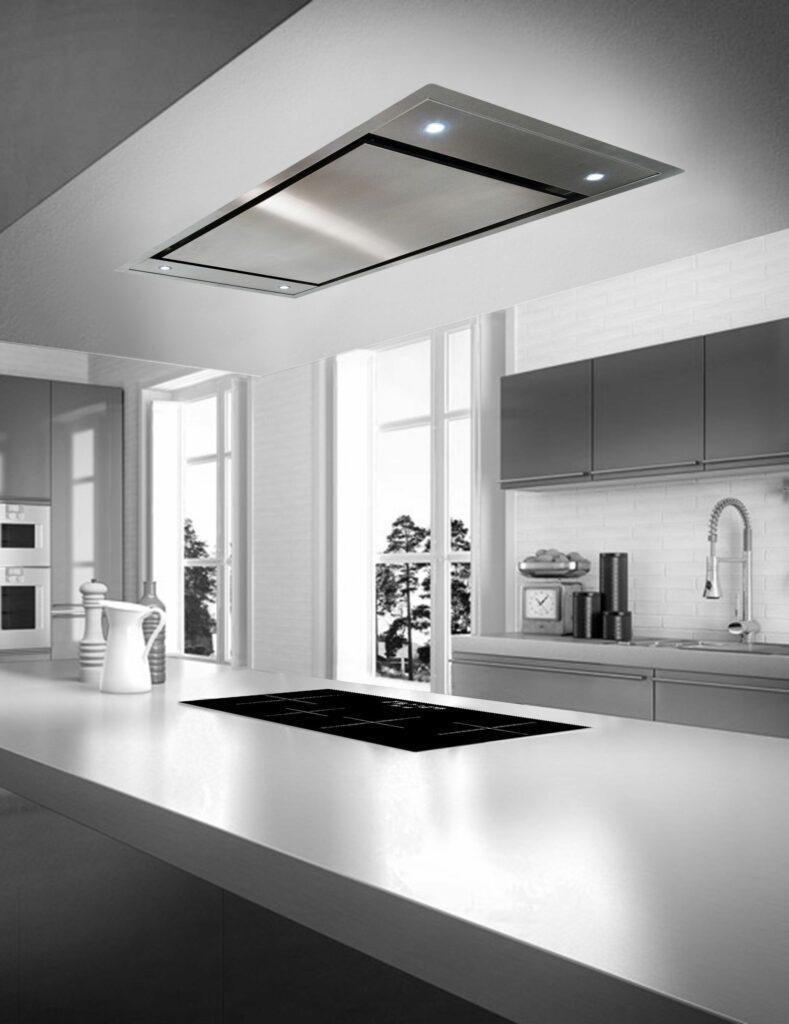 kitchen design hidden rangehood island
