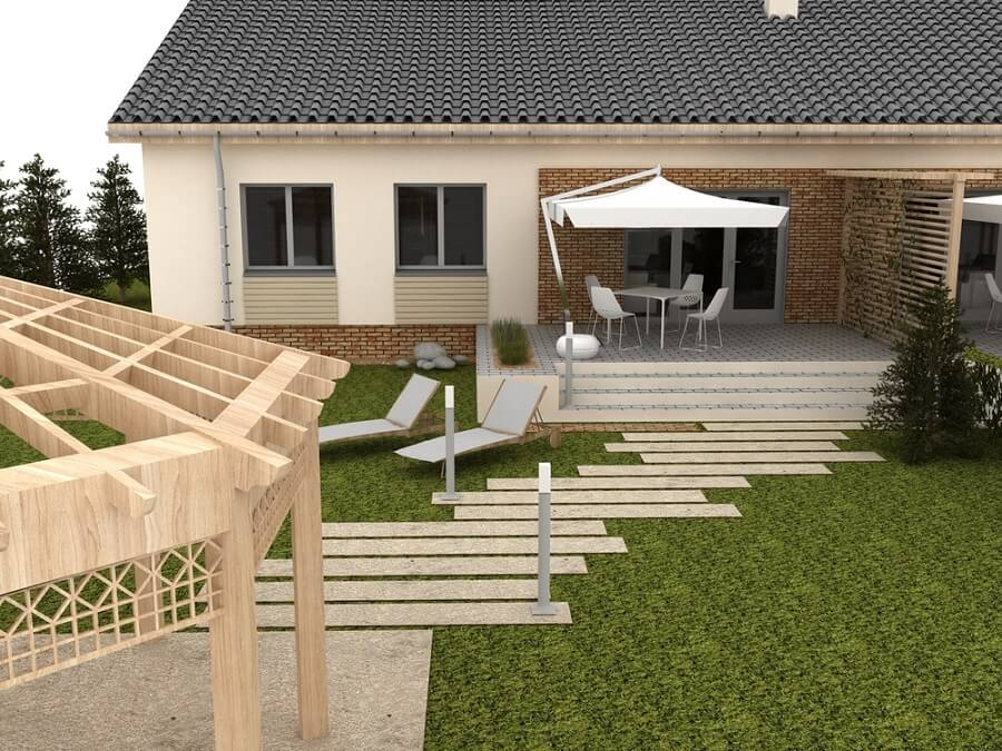 pre-cast concrete patio flooring