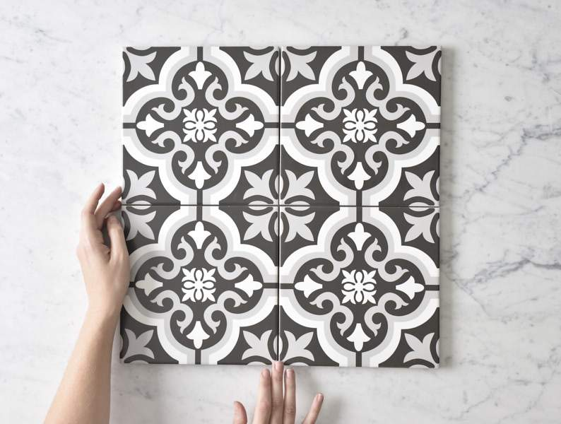 Kitchen Splashback Option: Encaustic Tile from the Tile Cloud
