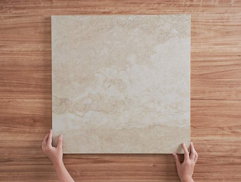 Kitchen Splashback Option: Noosa Matt Travertine Look Beige Tile ($61/m2)