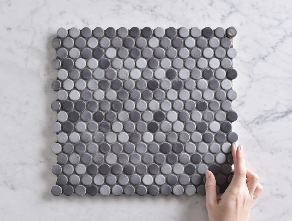 Kitchen Splashback Option: Penny Tile from the Tile Cloud