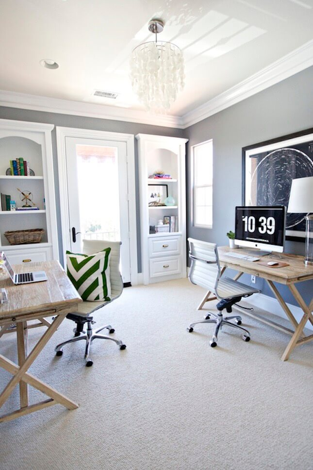 Home Office Ideas that Fit Two (2) or More Adults - Superdraft