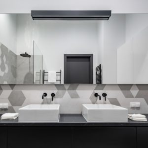 Check Out How Lovely This Modern Monochrome Bathroom is