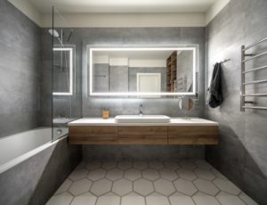3D Contemporary Bathroom Plan