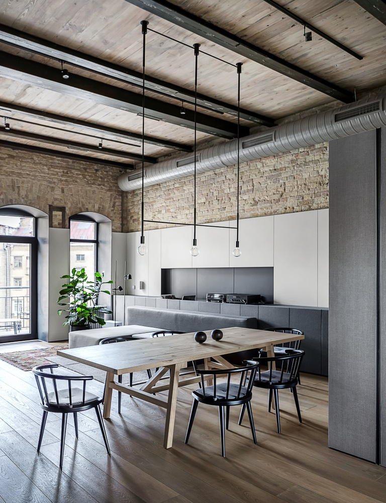 A Rustic Modern Loft With Easy Care Interiors
