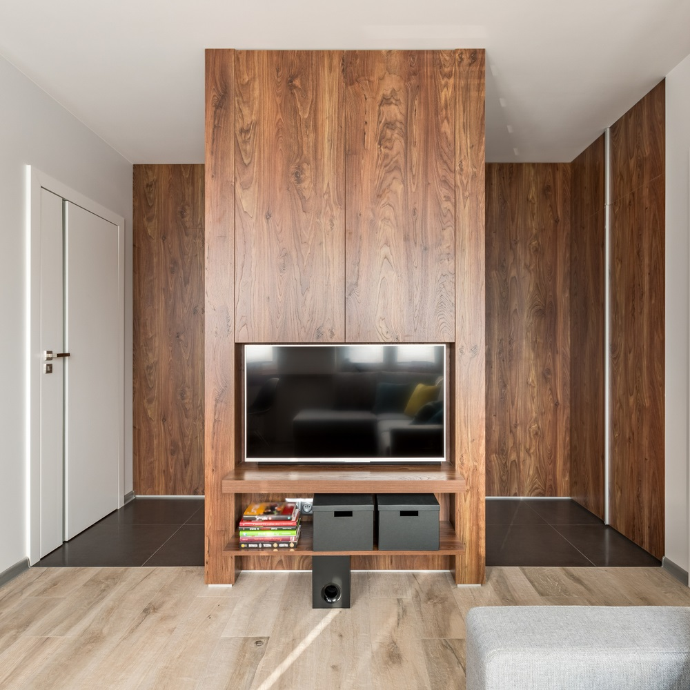 Master the Art of Separation with this TV Wall Room Divider