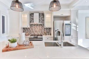 kitchen witn an island