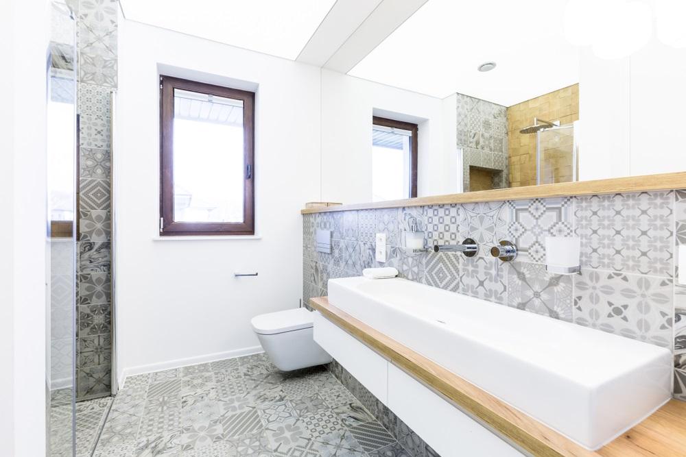 encaustic cement tile Bathroom flooring
