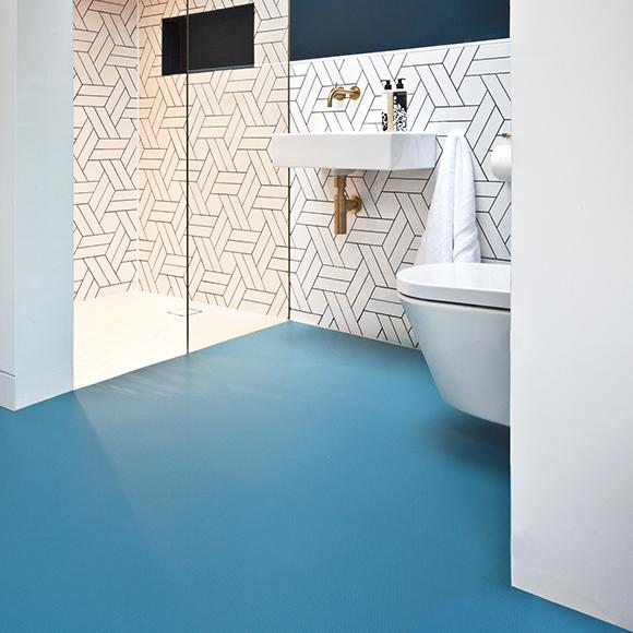 rubber Bathroom flooring