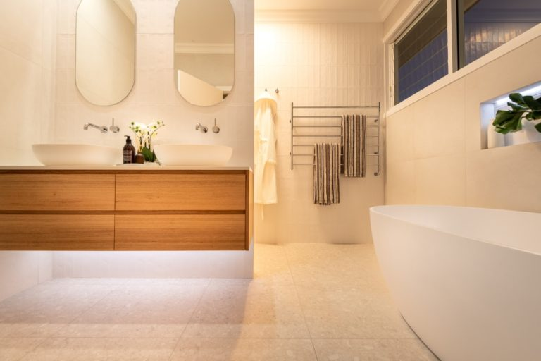 What are the average room sizes inside Australian homes Luxurious and well-lit modern bathroom design we wish we had right now