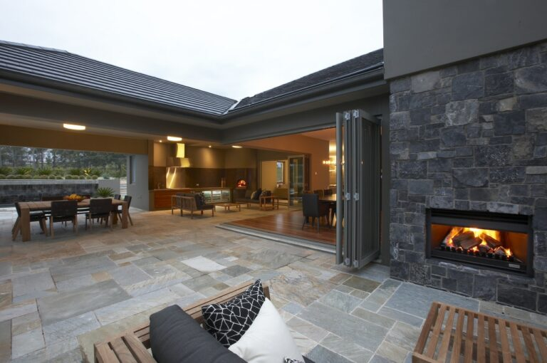 via Eco Outdoor install natural stone wall cladding