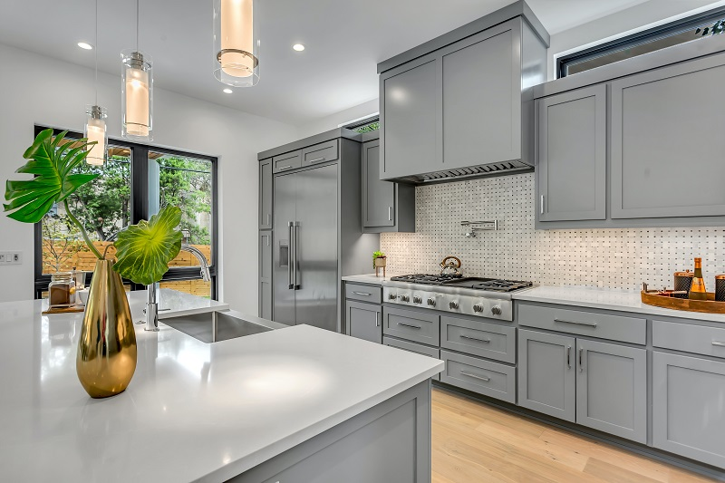 10 Ways to Save Money on Your Home Reno kitchen grey cabinets