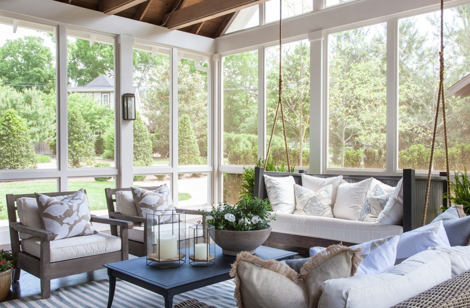 landscaping screened porch