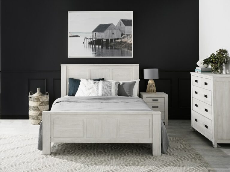 """""""The California Bed is our go-to piece for any farmhouse, coastal, or shabby chic bedroom."""""""