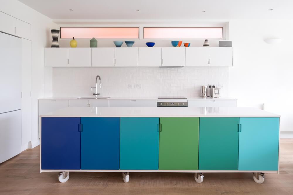 rolling kitchen island design