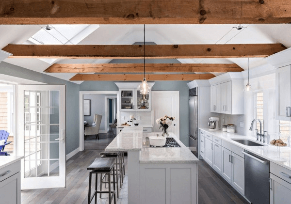 two-tier kitchen island