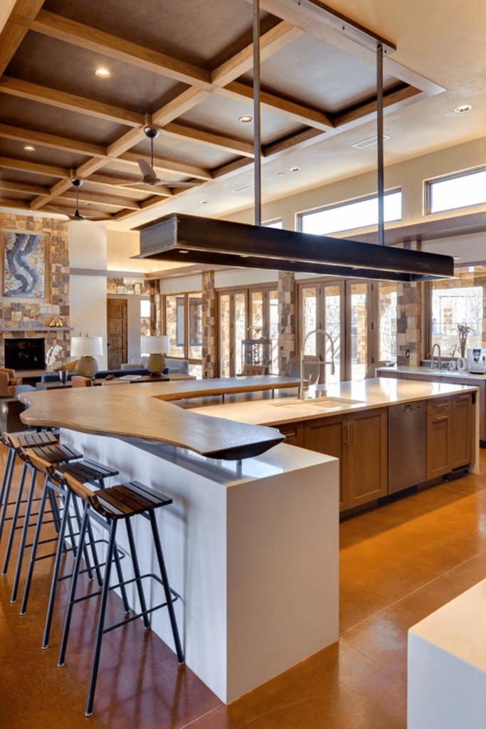 bi-level kitchen island