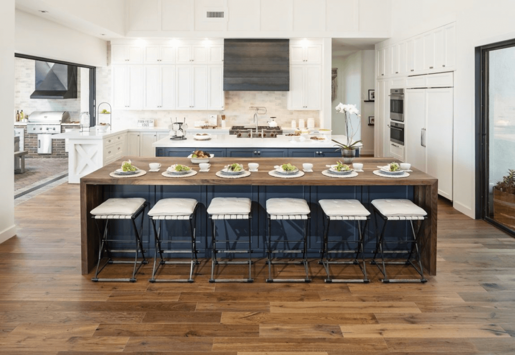 parallel kitchen island