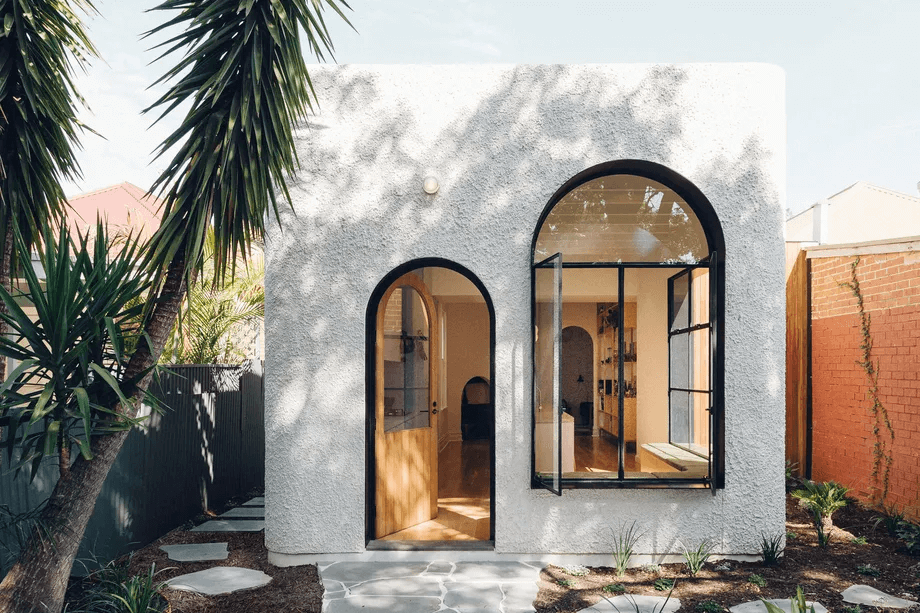 sustainable house stucco