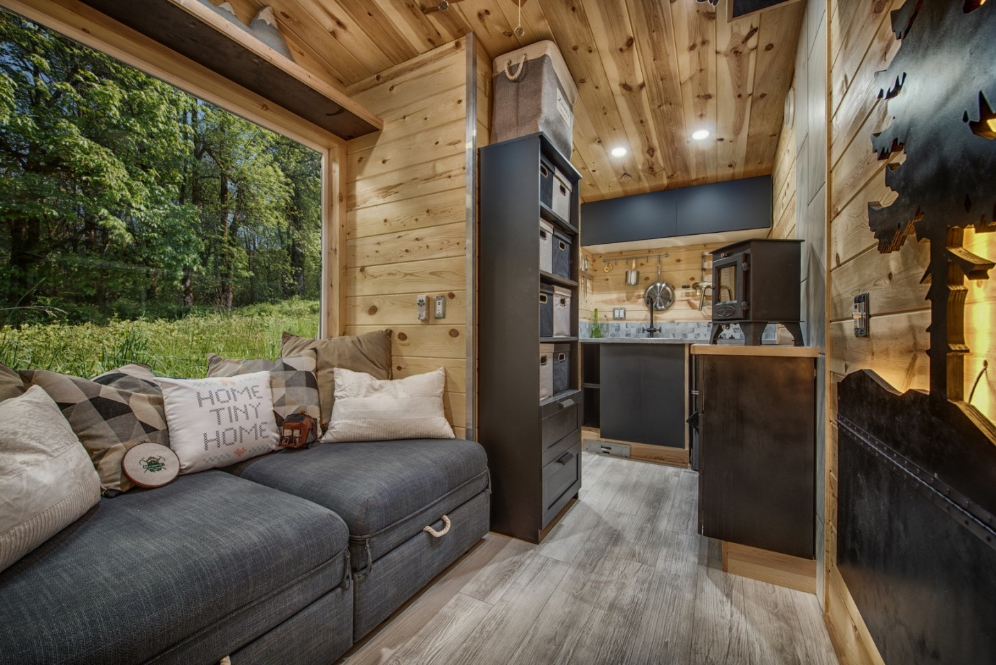 space-saving living room for portable home
