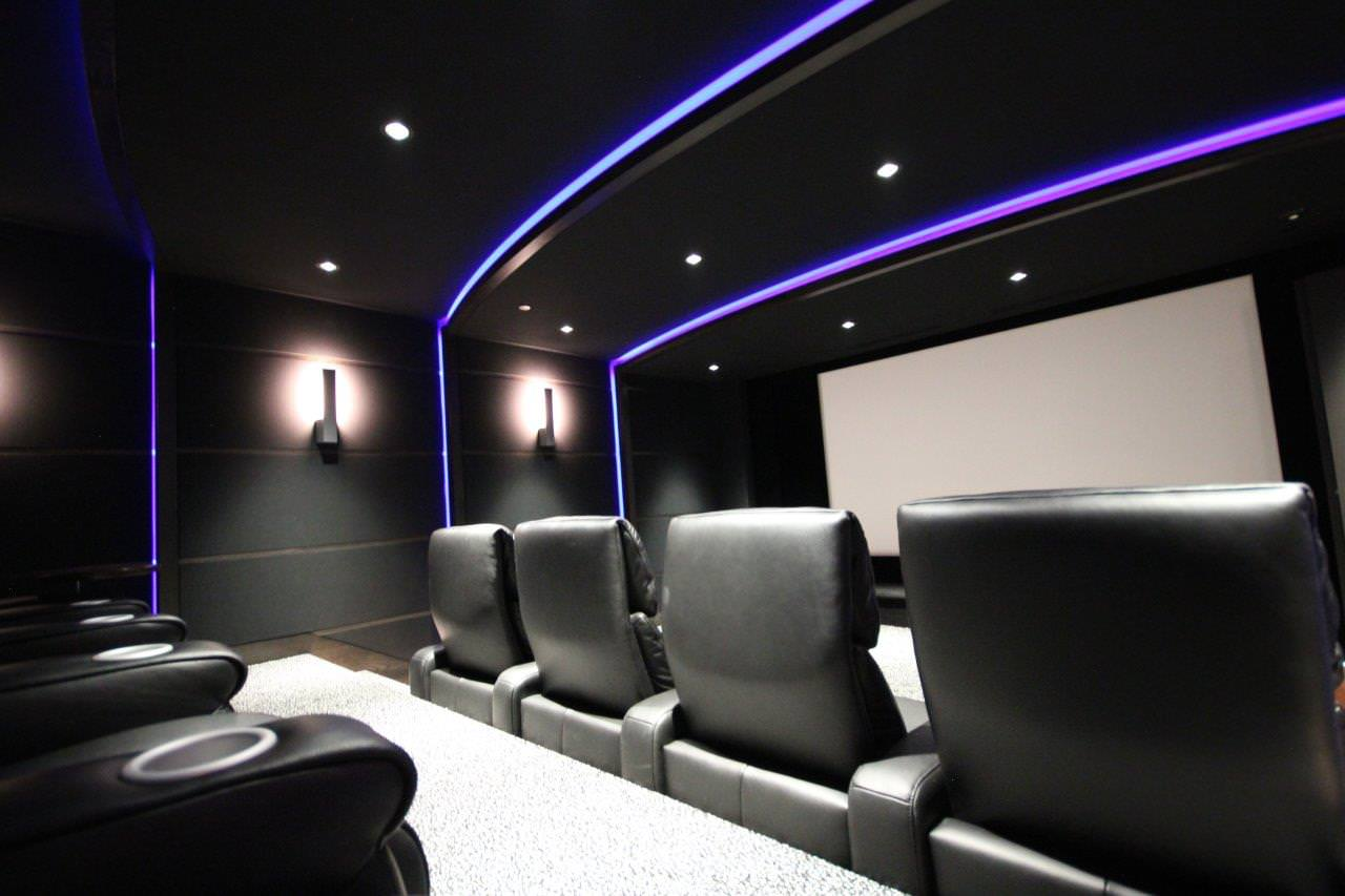 basement home cinema without windows