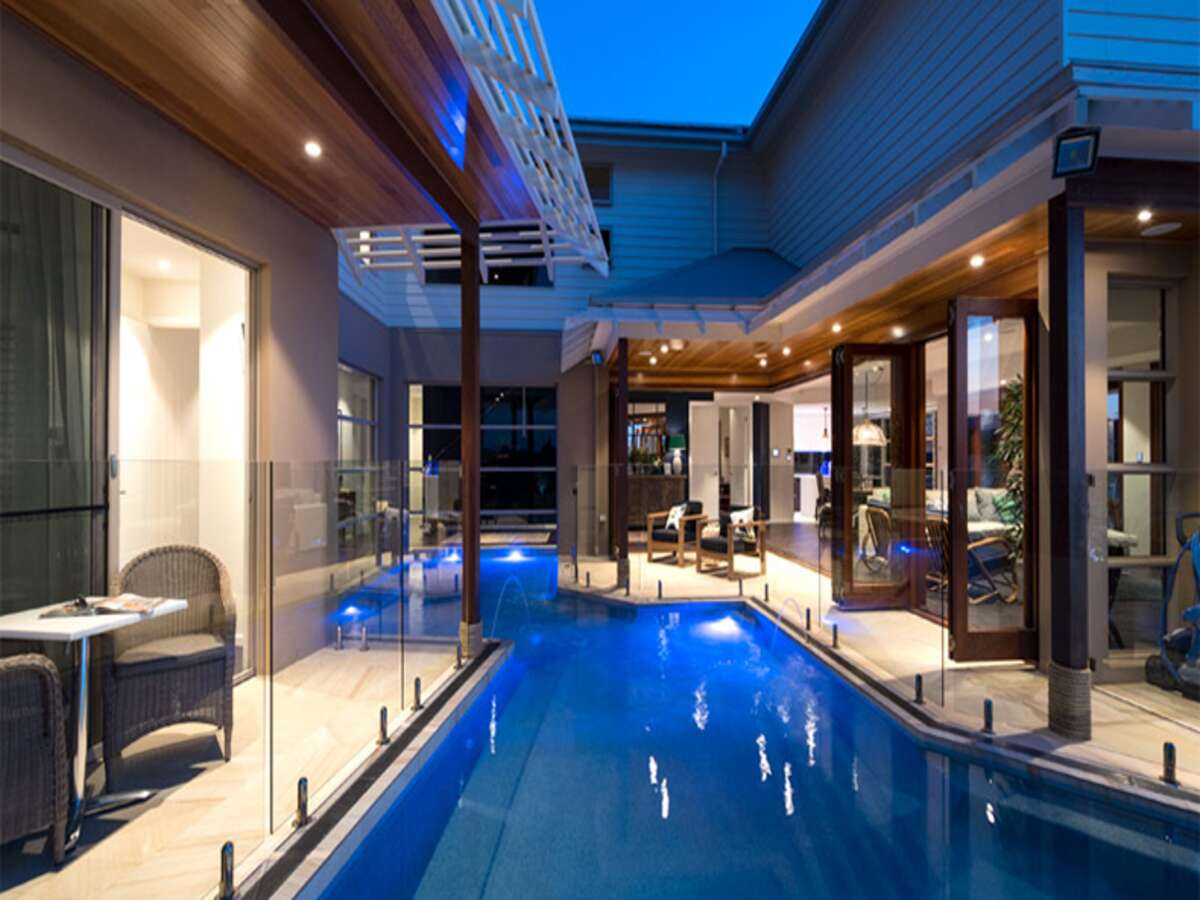 luxury resort-style home design pool area
