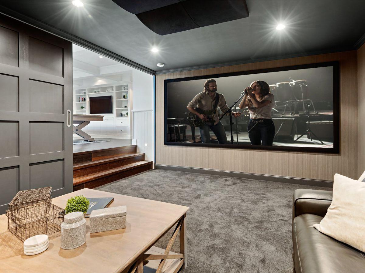 simple home theatre design idea