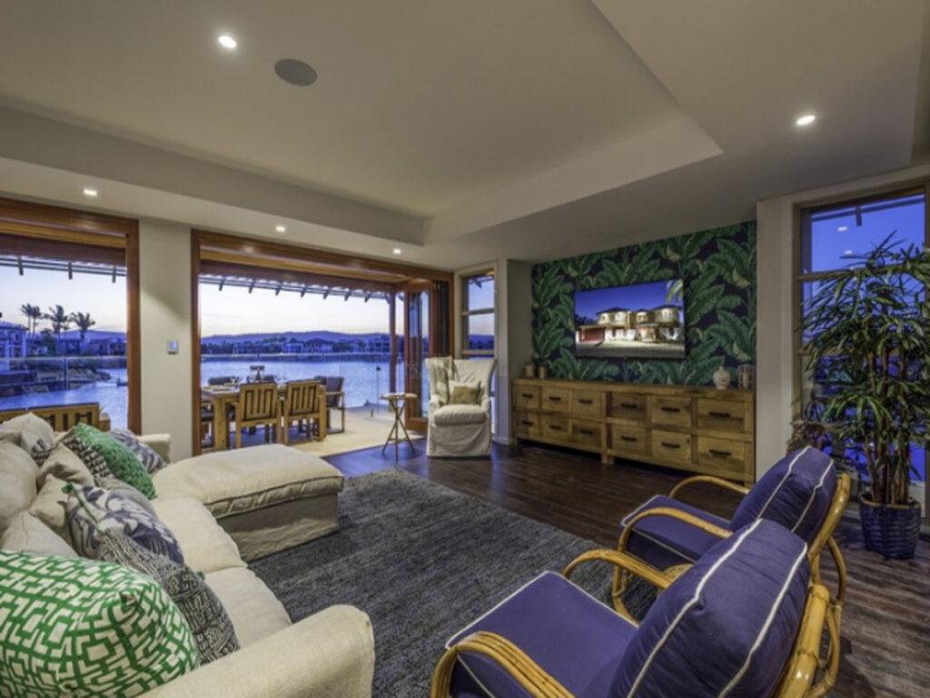 resort-inspired family room