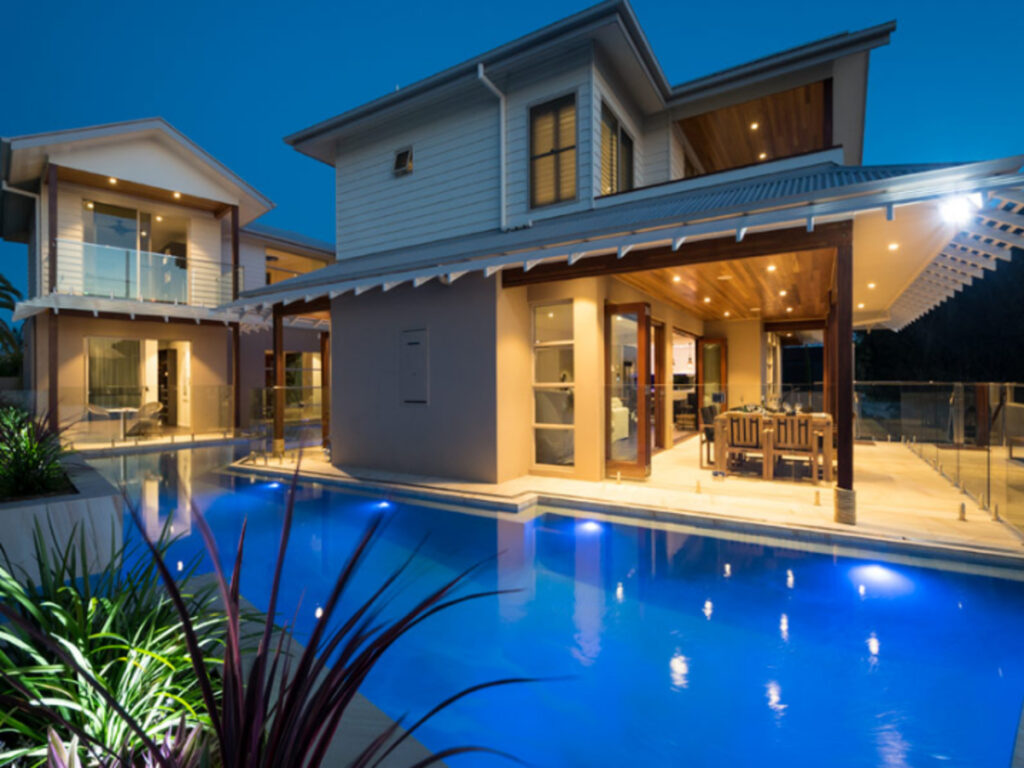 clear water bay resort-style home pool view