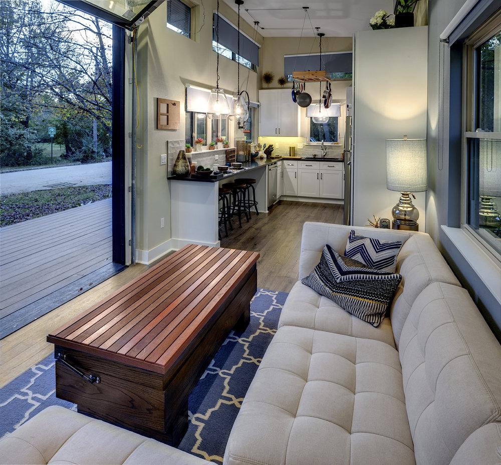 interior design of portable tiny home