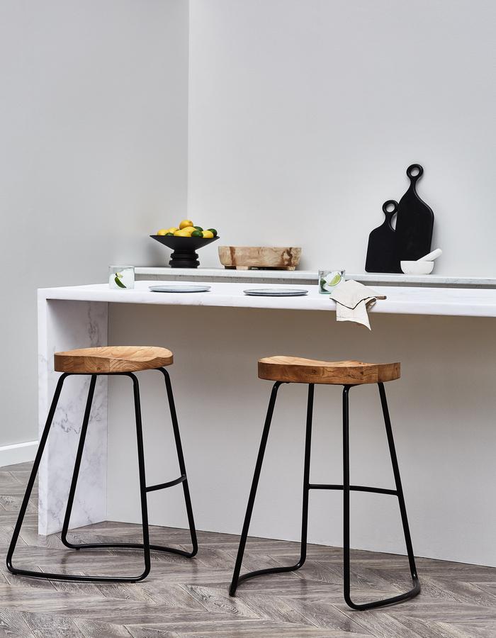 superdraft_66cm+Vintage-Style+Elm+Wood+Barstools+with+Black+Legs