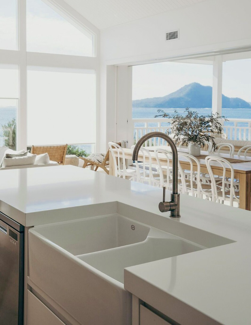 kitchen with minimalist tapware