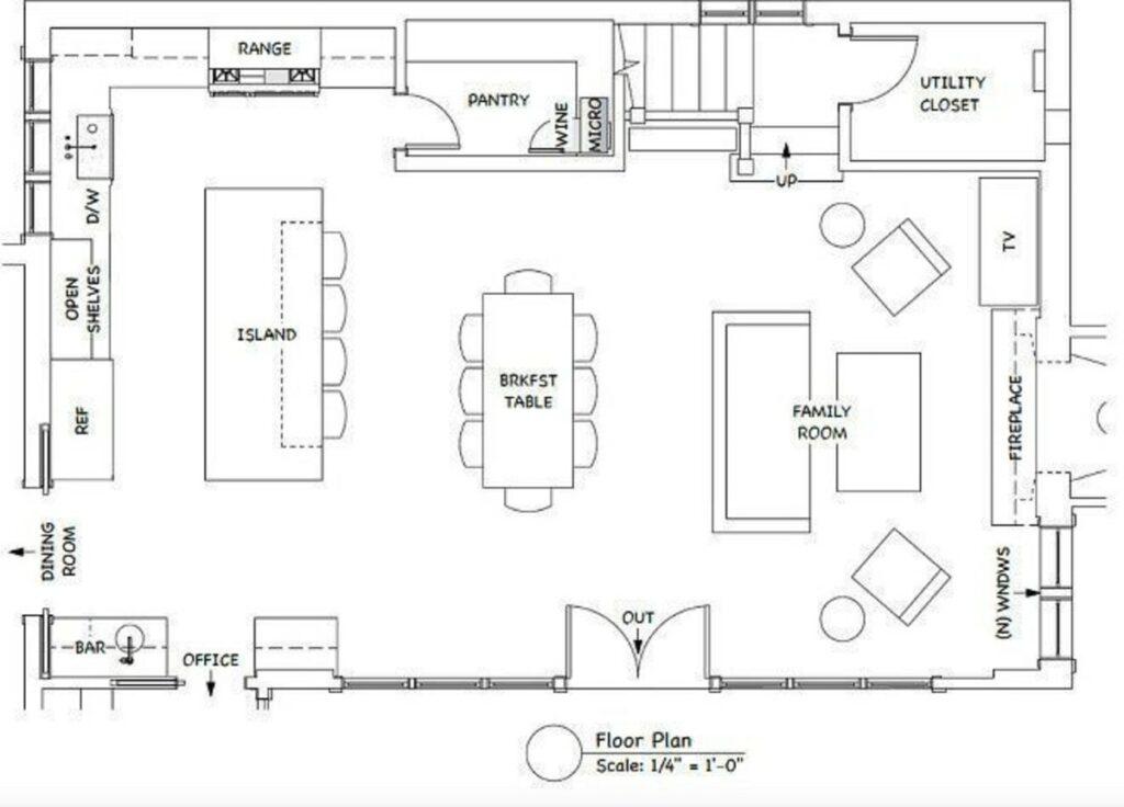 kitchen hamptons style floor layout